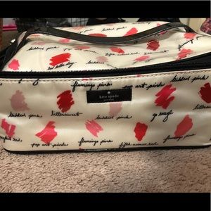 Large Kate Spade Toiletries and Cosmetic Bag